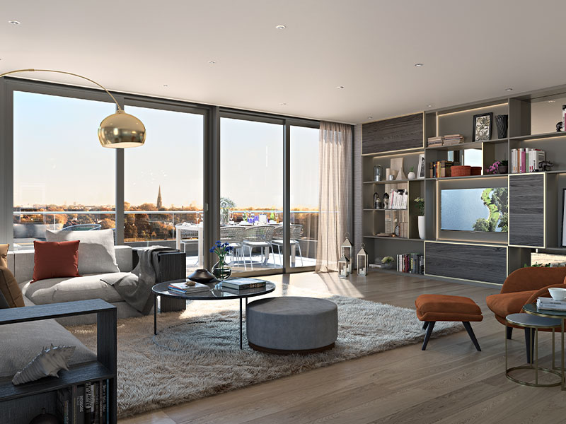 buy luxury apartments in woodberry down finsbury-park uk